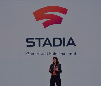 Head of Stadia Games and Entertainment Jade Raymond speaks on-stage during the annual Game Developer...
