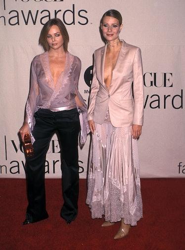 Actress Gwyneth Paltrow and fashion designer Stella McCartney attend the 2001 VH1/Vogue Fashion Awar...