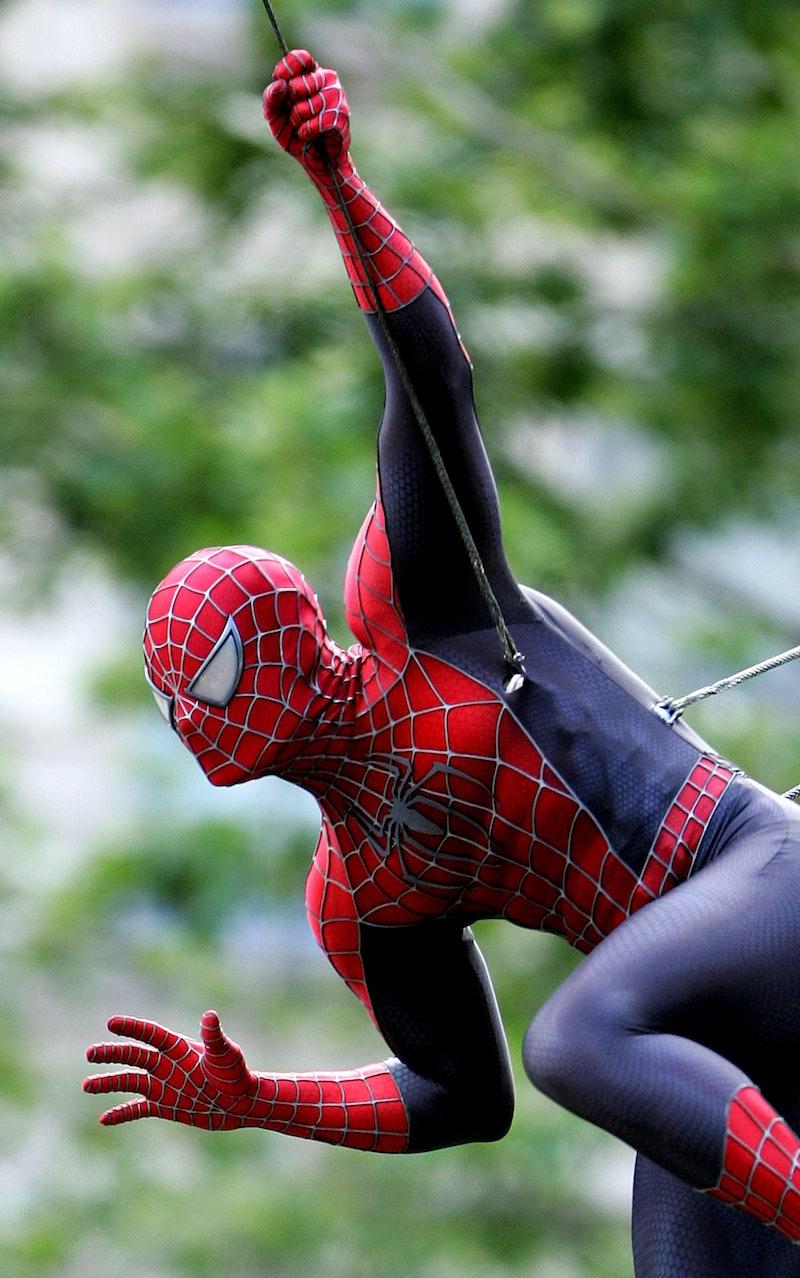 Spider-Man at the Downtown Manhattan in New York City, New York (Photo by James Devaney/WireImage)