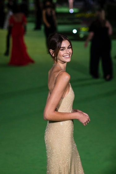 Los Angeles, CA - September 25: Kaia Gerber on the green carpet of the Opening Gala for the Academy ...