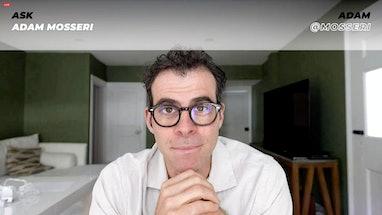LOS ANGELES, CALIFORNIA - JUNE 10: In this screengrab, Adam Mosseri speaks during Instagram and Face...