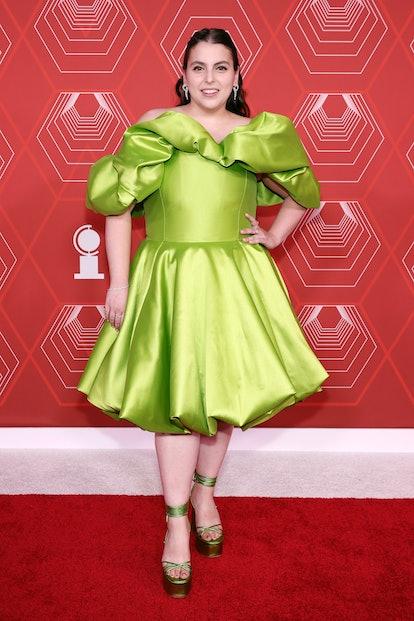NEW YORK, NEW YORK - SEPTEMBER 26: Beanie Feldstein attends the 74th Annual Tony Awards at Winter Ga...