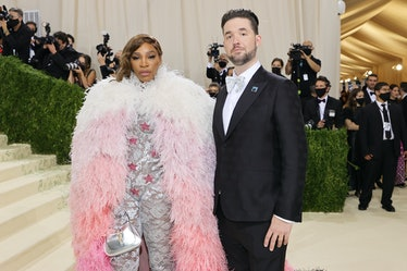 Serena Williams and Alexis Ohanian attend The 2021 Met Gala Celebrating In America: A Lexicon Of Fas...