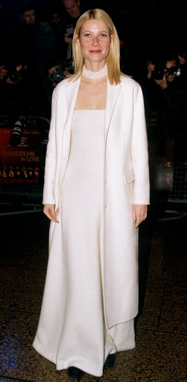 Gwyneth Paltrow Attends The 'Shakespeare In Love' London Premiere. (Photo by Justin Goff\UK Press vi...