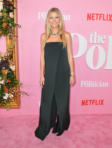 """US actress Gwyneth Paltrow arrives for the Netflix premiere of """"The Politician"""" at the DGA theatre i..."""