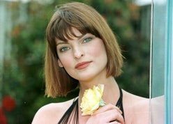 PA NEWS LINDA EVANGELISTA AT THE CHELSEA FLOWER SHOW   (Photo by David Giles - PA Images/PA Images v...
