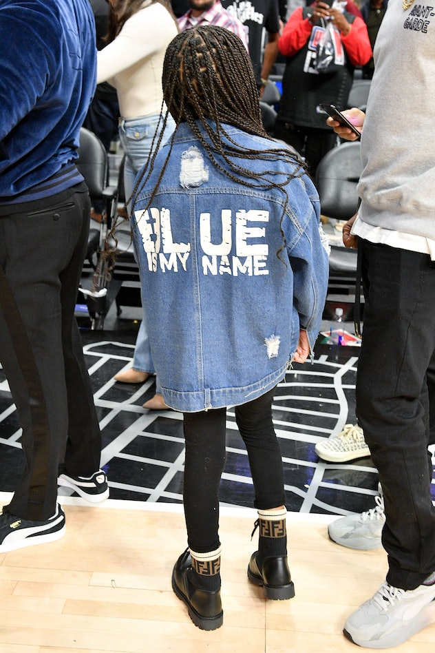 LOS ANGELES, CALIFORNIA - MARCH 08: Blue Ivy Carter attends a basketball game between the Los Angele...