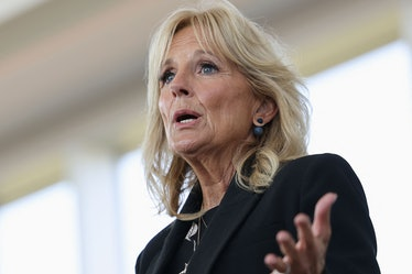 As part of her work as first lady, Jill Biden delivers remarks at Des Moines Area Community College ...