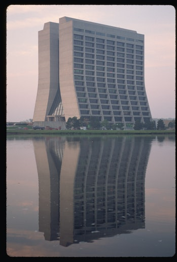 The main building at Fermi National Accelerator Laboratory, or Fermilab. Batavia, Illinois.