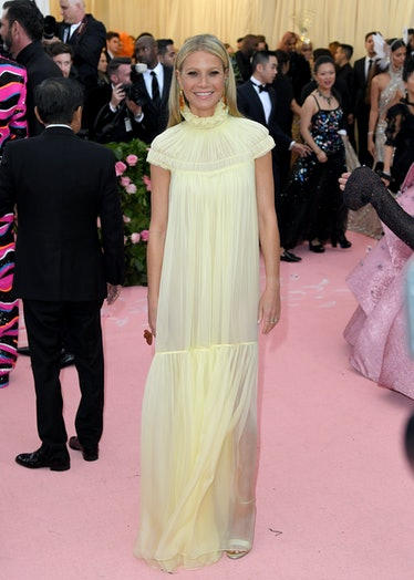 NEW YORK, NEW YORK - MAY 06: Gwyneth Paltrow arrives for the 2019 Met Gala celebrating Camp: Notes o...