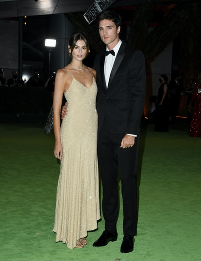 LOS ANGELES, CALIFORNIA - SEPTEMBER 25: Kaia Gerber and Jacob Elordi attend The Academy Museum Of Mo...