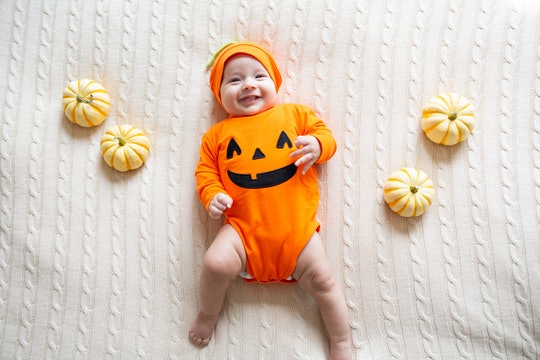 Halloween baby clothes are a must during October.