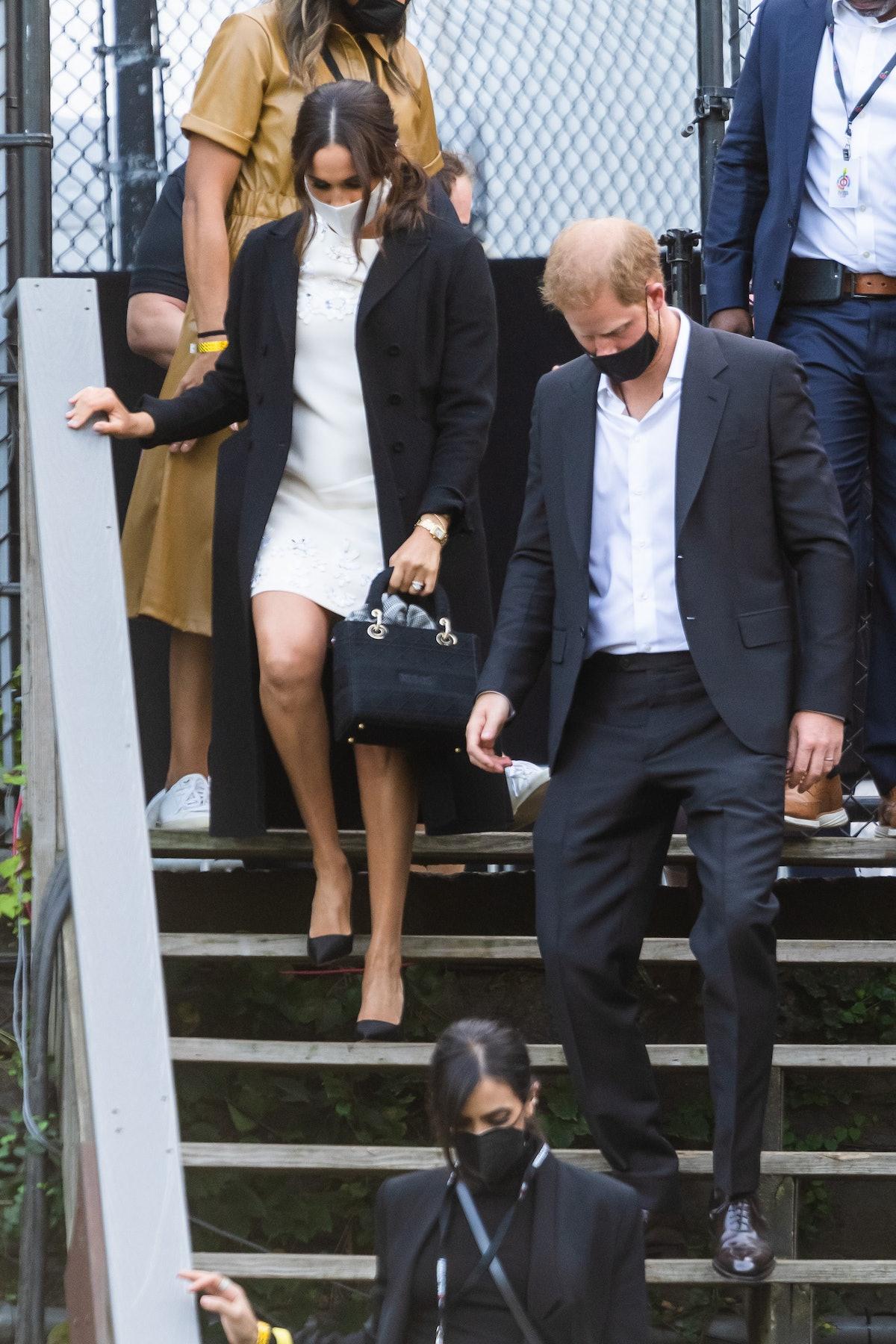 نیویورک ، نیویورک - 25 سپتامبر: مگان مارکل ، دوشس ساسکس و شاهزاده هری ، دوک ساس ...