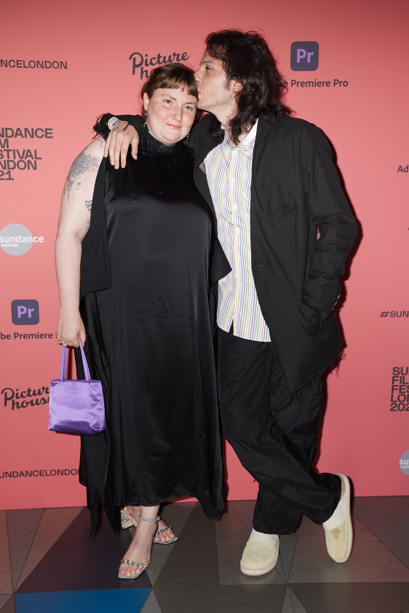Lena Dunham and Luis Felber attend the Sundance London Film Festival screening of Zola, at the Pictu...