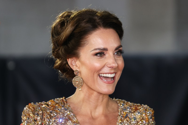 Kate Middleton's 'No Time To Die' premiere look made a lasting impression. She chose a gold sequin c...