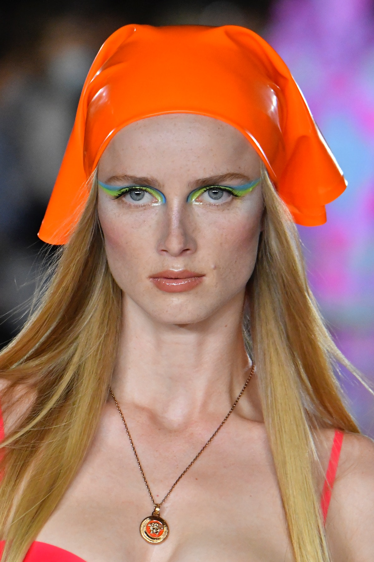 Pat McGrath was the force behind the makeup at Versace Spring 2022 at Milan Fashion Week in 2021, wh...