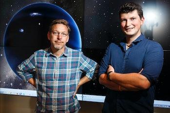 Pasadena, CA - January 19: Mike Brown, Professor of Planetary Astronomy, and Konstantin Batygin, ass...