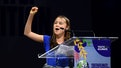 MICO, MILAN, ITALY - 2021/09/28: Greta Thunberg gestures during opening plenary session of the Youth...