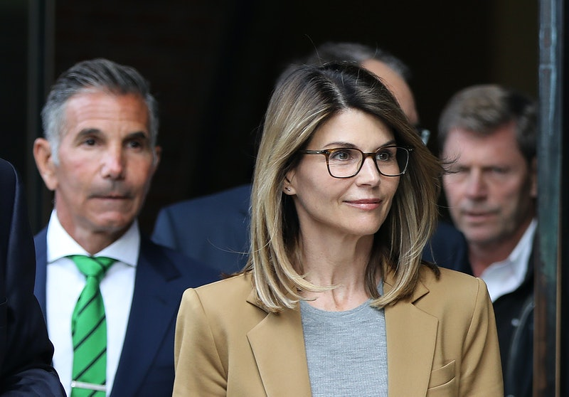BOSTON, MA - APRIL 3: Actress Lori Loughlin and her husband Mossimo Giannulli, wearing green tie at ...