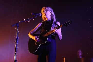 NEW YORK, NEW YORK - SEPTEMBER 25: Phoebe Bridgers performs during the 2021 Governors Ball Music Fes...
