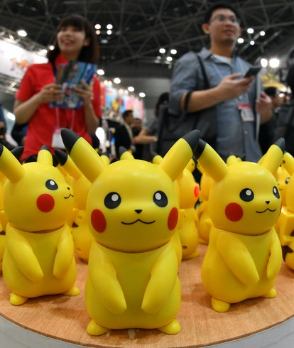 Conversation Pikachu, during International Tokyo Toy Show 2018, June 7, 2018, Tokyo, Japan. (Photo b...