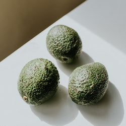 3 firm bumpy avocados form the shape of a chalice. Ob-gyns suggest looking out for these kinds of vu...