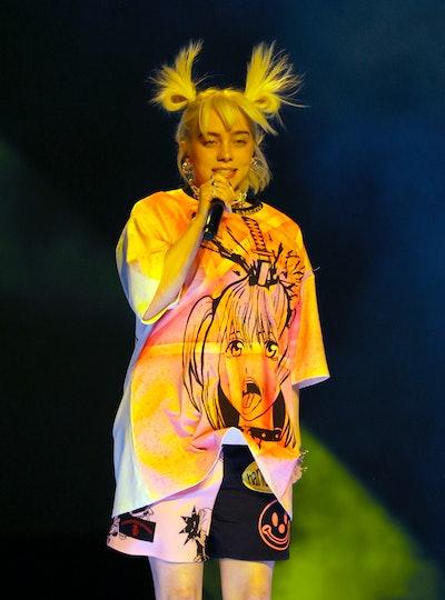 LAS VEGAS, NEVADA - SEPTEMBER 18:  Billie Eilish performs during the 2021 iHeartRadio Music Festival...