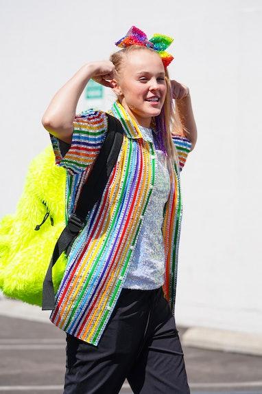 LOS ANGELES, CA - SEPTEMBER 22: JoJo Siwa is seen outside 'Dancing With The Stars' Rehearsal Studio ...