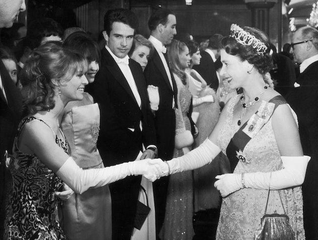 Queen Elizabeth meets Julie Christie in 1966.
