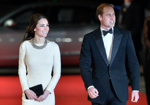 Prince William and Kate Middleton attend a 2013 movie premiere.