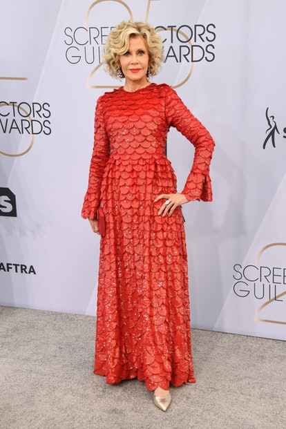Jane Fonda attends the 25th Annual Screen ActorsGuild Awards at The Shrine Auditorium in Los Angele...