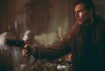 'Blade runner' Rick Deckard (Harrison Ford) enters Sebastian's apartment, where he is soon to be att...