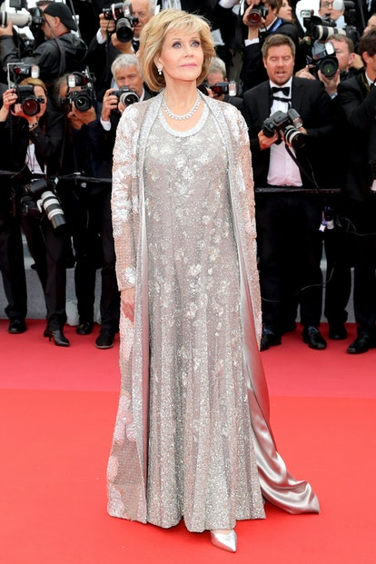 """Jane Fonda attends the screening of """"BlacKkKlansman"""" during the 71st annual Cannes Film Festival at ..."""