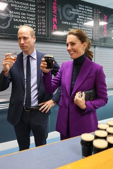 LONDONDERRY, NORTHERN IRELAND - SEPTEMBER 29: Prince William, Duke of Cambridge and Catherine, Duche...