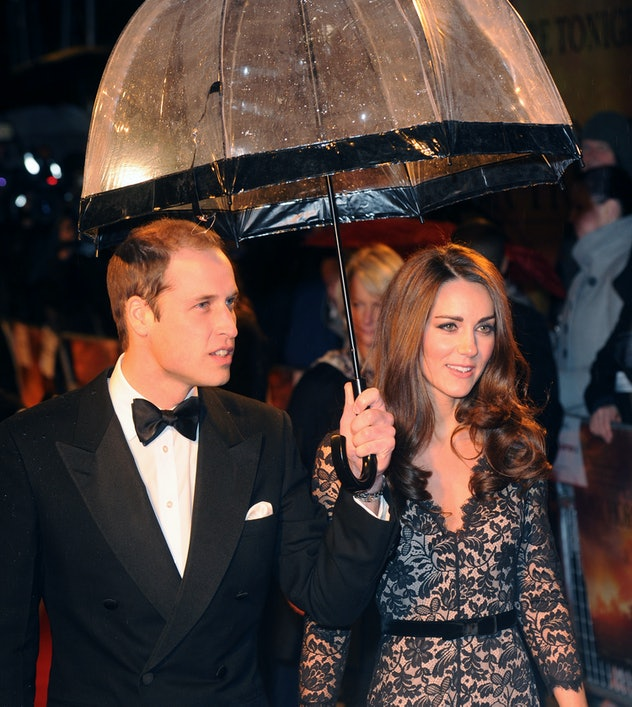 Kate Middleton attends her first movie premiere.