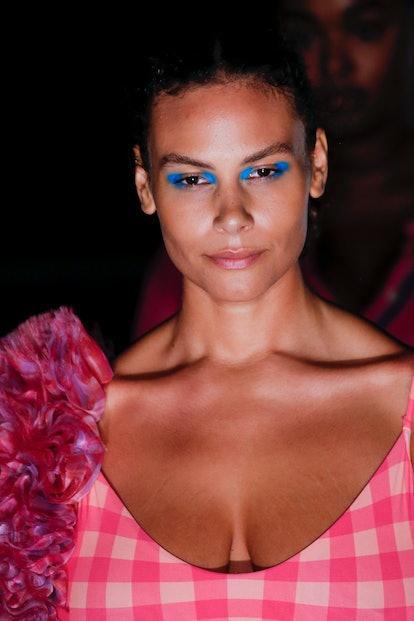 NEW YORK, NEW YORK - SEPTEMBER 08: A model walks the runway during the Prabal Gurung Ready to Wear S...