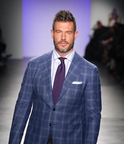 NEW YORK, NEW YORK - FEBRUARY 05: Jesse Palmer walks the runway at The Blue Jacket Fashion Show duri...