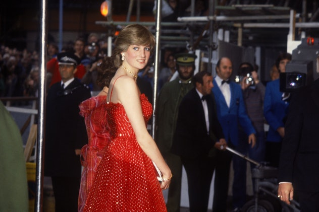 Princess Diana attends her first movie premiere.