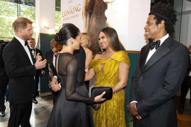 Meghan Markle and Prince Harry attended the 'Lion King' premiere.