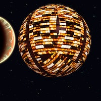 Alien Planets In Orbit Around A Dyson Sphere, Constructed By A Type 2 Civilization.