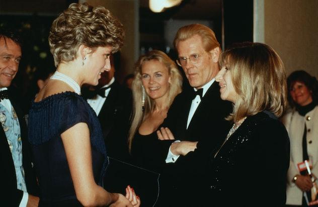 Princess Diana meets Barbara Streisand