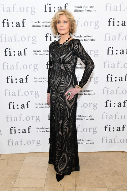 Jane Fonda attends FIAF Trophee des Arts Gala at The Plaza Hotel in New York City in November 2018. ...
