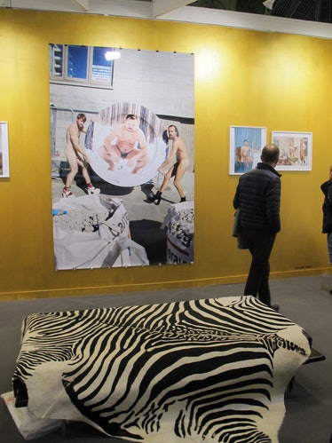 The Suzanne Tarasieve gallery showing works from Juergen Telle in Paris, France as seen on 09 Novemb...