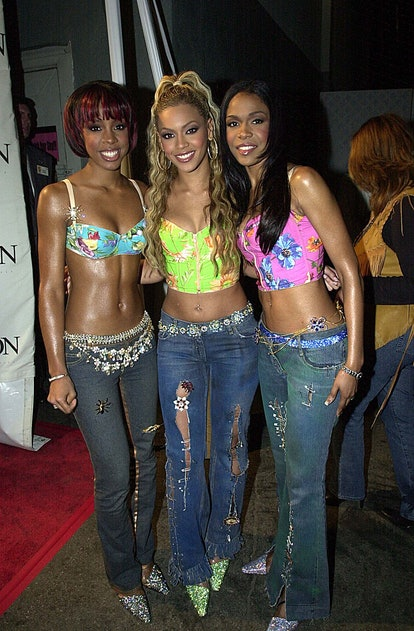 Michelle Williams, Beyonce Knowles and Kelly Rowland of Destiny's Child (Photo by Jeff Kravitz/FilmM...