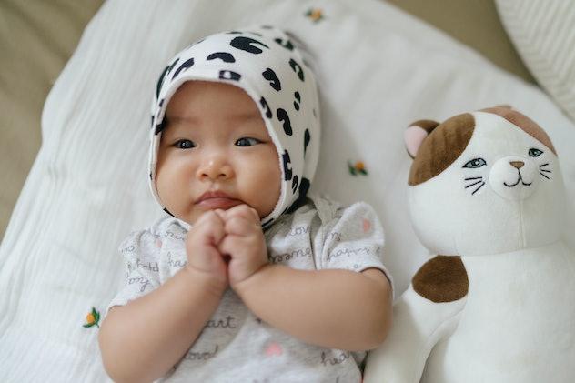 baby wearing hood