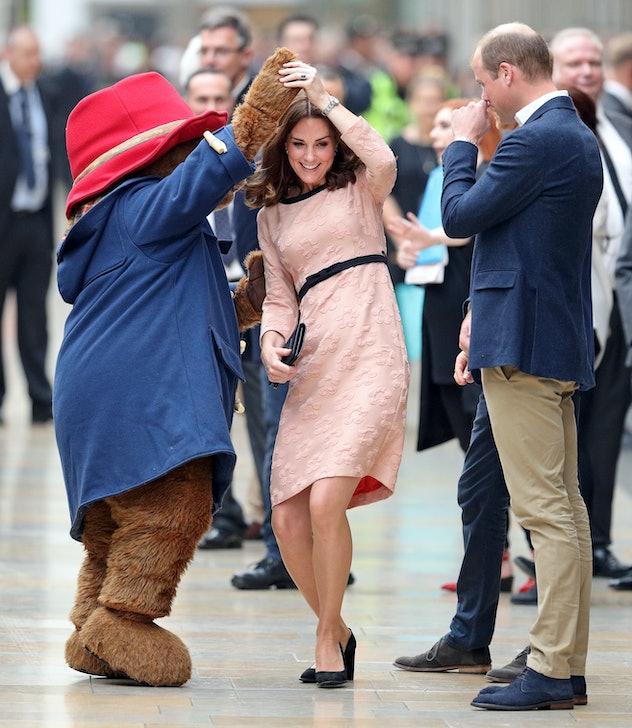 Kate Middleton dances with Paddington Bear.