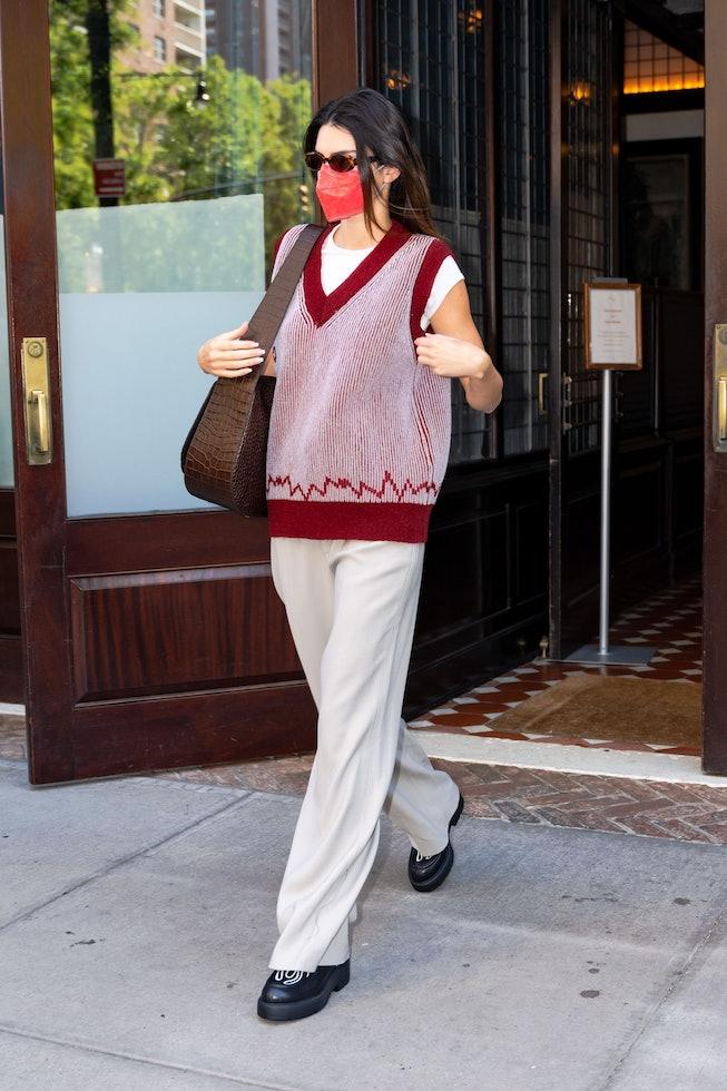 NEW YORK, NEW YORK - SEPTEMBER 11: Kendall Jenner is seen in Tribeca on September 11, 2021 in New Yo...