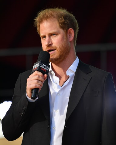 NEW YORK, NY - SEPTEMBER 25:  Prince Harry at Global Citizen Live on September 25, 2021 in New York ...