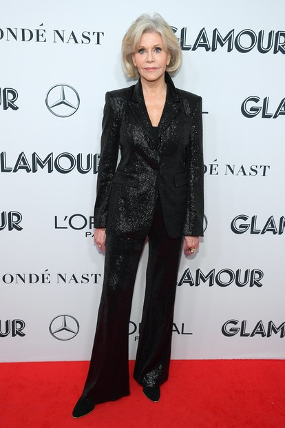 Jane Fonda attends the 2019 Glamour Women Of The Year Awards at Alice Tully Hall in New York City in...
