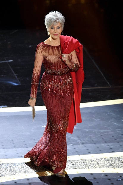 Jane Fonda speaks onstage during the 92nd Annual Academy Awards at Dolby Theatre in Hollywood, Calif...